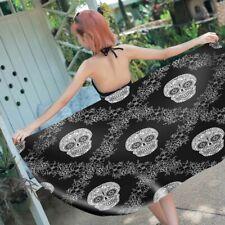 Gothic Cool Pop Art Sugar Skull Bath Surf Swim Beach Towel Holiday Birthday Gift