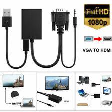 1080P HD VGA Male to HDMI Female  TV AV HDTV Audio Video Cable Converter Adapter