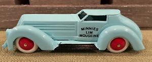 "Rare  Disney Pride Lines Manoil  ""Minnies Lim Mousine"" Powder Blue Coupe C-10"