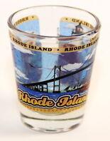 RHODE ISLAND STATE WRAPAROUND SHOT GLASS SHOTGLASS