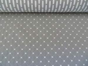 John Lewis Provence Furnishing Fabric Remnant 1.8m x 137cm Grey