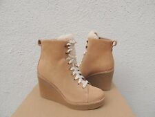 UGG KIERNAN HONEY SUEDE SHEEPSKIN WEDGE ANKLE BOOTS, US 10/ EUR 41 ~NIB