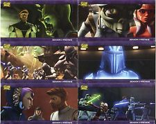 Star Wars Clone Wars Widevision Complete S2 Sneak Preview Chase Card Set PV1-8