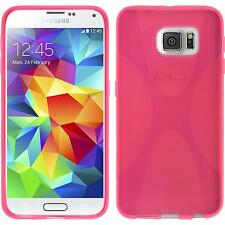 Coque en Silicone Samsung Galaxy S6 - X-Style rose chaud + films de protection
