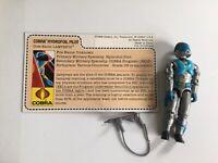 1985 Vintage Gi Joe ~~ LAMPREYS Complete w File Card ~~ HYDROFOIL PILOT