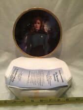 Hamilton Collection Plate Dr. Beverly Crusher
