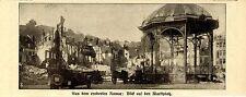 Aus dem eroberten Namur: Marktplatz Historische Aufnahme von 1914
