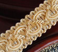 Hochwertige Posamentenborte 16 mm (1,0 €/m) Light Gold Sand Schmuckband Spitze