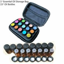 15Bottle Essential Oil Case Protect Storage Organizer+15 Oil Bottles For 1/2/3ml