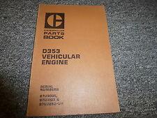 Caterpillar Cat D353 Vehicular Engine Parts Catalog 97U3095 97U3103 & 97U3283-Up