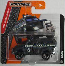 MATCHBOX-SWAT/Grappin Camion Gris police Nouveau/Neuf dans sa boîte