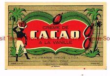 1940s CHILE Santiago Heumann  Hnos. Ltda CREME DE CACAO A LA VANILLE label