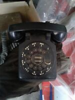 Vintage Mid Century Bell Systems Black Rotary Dial Telephone
