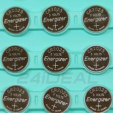 9pcs Energizer CR2025 ECR2025 3V Lithium Battery LITHIUM CR 2025 DL2025 BR2025