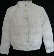 Juicy Couture Womens Ivory Down Hooded Bomber Puffy Jacket #JGS00714 (XL) NWT