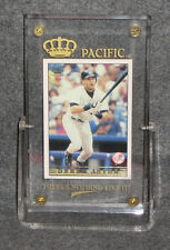 "Derek Jeter 1999 Crown Pacific ML Baseball Card # 190 in 1/2"" Plastic Holder"