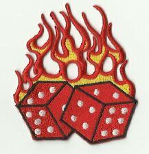 écusson ECUSSON PATCH THERMOCOLLANT LUCKY JEU DE DES FLAMING