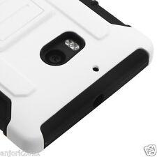 Nokia Lumia 929 Icon Hybrid C Armor Case w/Stand Skin Cover White Black