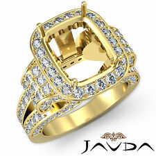 Radiant Diamond Fine Antique Anniversary Semi Mount Ring 14k Yellow Gold 2.65Ct