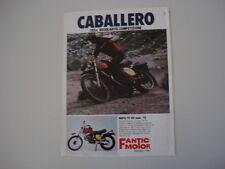 advertising Pubblicità 1976 MOTO FANTIC TX 150 CABALLERO 125 cc MOD '75