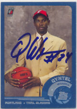 QYNTEL WOODS TRAIL BLAZERS SIGNED 2001 TOPPS CARD NEW YORK KNICKS MIAMI HEAT