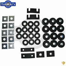55-57 Chevy Wagon & Sedan Rubber Frame to Body Mount Bushing / Cushion Set
