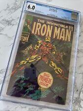 Iron Man #1 CGC 6.0 5/68 Origin Of Iron Man Retold - Major Key!