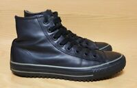 Vtg Converse Chuck Taylor Hi Top All Black Leather Mens Size 9
