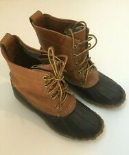 Vintage LL Bean Duck Boots Shoes Original Waterproof Size 7 Leather Made in USA