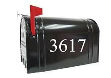 LARGE Mailbox Numbers 4 inches tall SET OF 2 Numbers Custom Mailbox Stickers