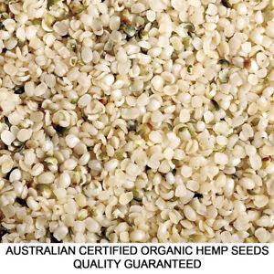 2kg HEMP SEEDS AUSTRALIAN CERTIFIED ORGANIC HULLED BULK VEGAN FOOD FRESH