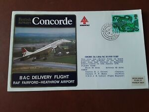 1976 BAC DELIVERY FLIGHT  RAF FAIRFORD - HEATHROW AIRPORT COVER