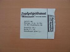 Zupfgeigenhansel Ticket Karte Heidelberg Stadthalle 11.04.1982 Miteinander Tour