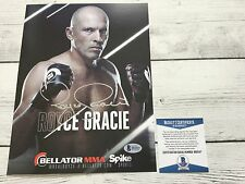 Royce Gracie Signed Bellator Promo Photo BAS Beckett COA Autographed a