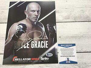 Royce Gracie Signed Bellator Promo Photo BAS Beckett COA Autographed a