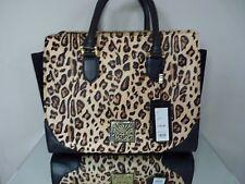 Authentic BIBA Leopardato Kiera doppia Zip Bag Bnwt Rrp £ 199.00