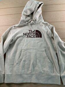 The North Face Pullover Mens Hoodie Size M Medium  Gray Sweatshirt Big Logo
