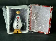 HANDCRAFTED Black Marble  PENGUIN With White Belly  🐧