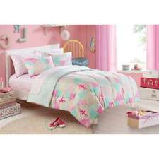 Girls Bedding Set 7 piece Ballerina Bed in a Bag Full size colorful Reversible