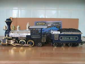 New Bright Industries The Royal Blue Battery Operated Locomotive and Tender