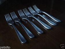 CHRISTOFLE. Lot de 6 fourchettes à poisson. Modèle Coquille Bérain. Fish forks