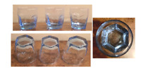 Vintage Libbey Drinking Glass Tumblers 8 oz. BLUE CHIVALRY  Set of 3