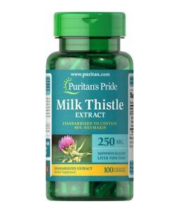 Puritan's Pride Milk Thistle Extract 250 mg Standardized Silymarin 100 Capsules