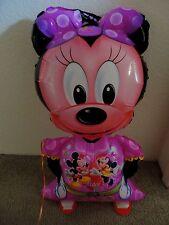 1 MINNIE Mouse Walking Pet 42'' Mylar Balloon Happy Birthday Free Ship