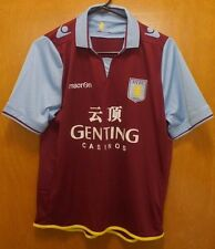 Aston Villa Soccer Jersey 2012-13 Womens Home Kit Maroon Blue VINTAGE - Size 14