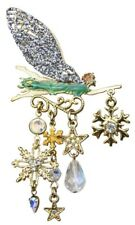 KIRKS FOLLY FAIRY FLURRIES SNOWFLAKE PIN  goldtone