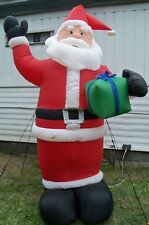 8' Gemmy Airblown Santa Lighted Inflatable Outdoor Yard Christmas Decoration
