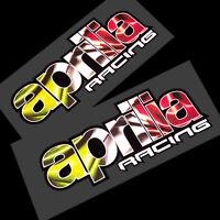 APRILIA RACING Reflektierend Motorrad Grafiken Aufkleber x 2 Stück Stil 003