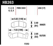 Hawk Performance HB263U.650 Unbeatable Pad And Rotor Wear Disc Brake Pads