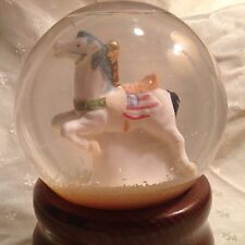 Musical Carousel Horse Snow Globe Nib Th Palm Company